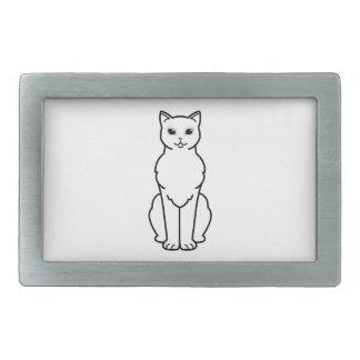 アジアBurmilla猫の漫画 長方形ベルトバックル