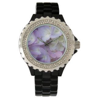 アジサイのカラフルの花 腕時計