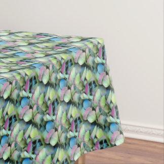 アジサイの多色刷りの花びら --- エコーのプリント- テーブルクロス