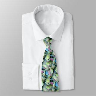 アジサイの多色刷りの花びら --- ネクタイ