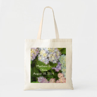 アジサイの水彩画の結婚式のバッグ トートバッグ
