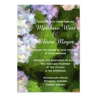 アジサイの花のブライダルの結婚式招待状 カード
