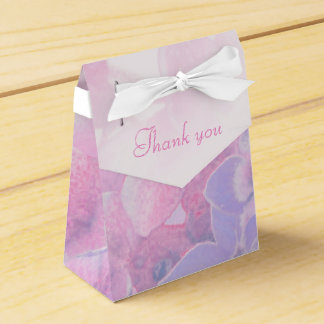 アジサイの花の紫色のピンクの結婚式の引き出物箱 フェイバーボックス