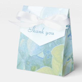 アジサイの花の青緑の結婚式の引き出物箱 フェイバーボックス