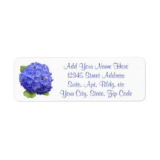 アジサイの花柄 返信用宛名ラベル