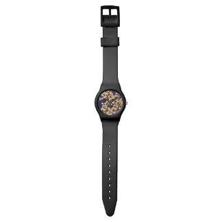 アジサイの金ゴールド 腕時計