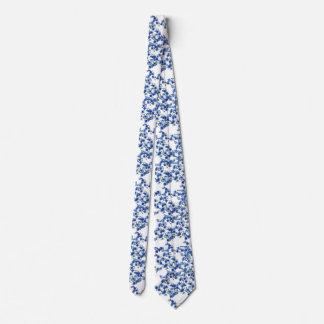 アジサイの青 ネクタイ