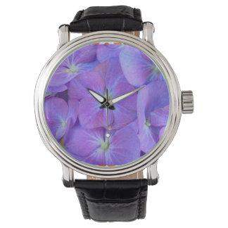 アジサイの青 腕時計