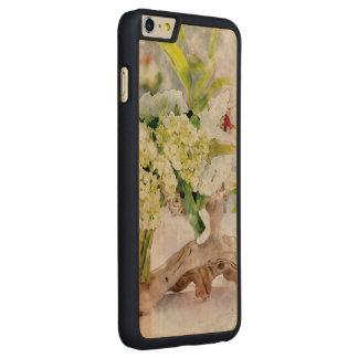 アジサイのBella WatercoloのiPhone 6のプラスの細い木 CarvedメープルiPhone 6 Plus スリムケース
