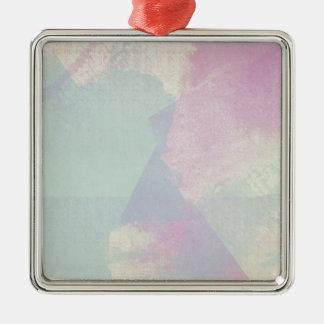 アジサイシリーズ水彩画の抽象芸術のオパール メタルオーナメント