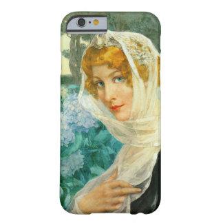 アジサイ1900年を持つ若い女性 BARELY THERE iPhone 6 ケース