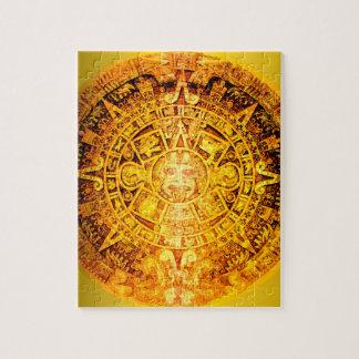 アステカなカレンダーの金ゴールドの効果 ジグソーパズル