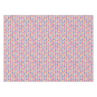 アステカなシェブロンのカラフルパターン テーブルクロス