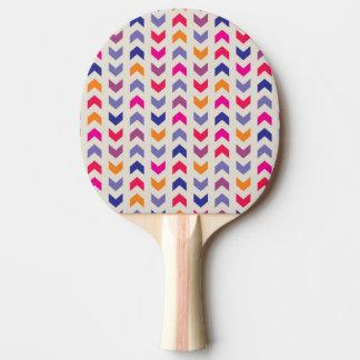 アステカなシェブロンのカラフルパターン 卓球ラケット
