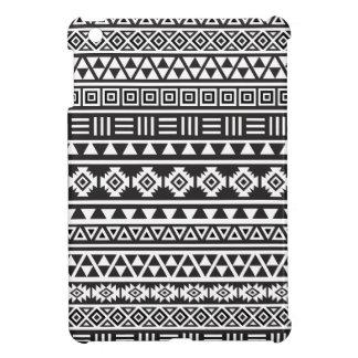 アステカなスタイルパターン-白黒 iPad MINIケース