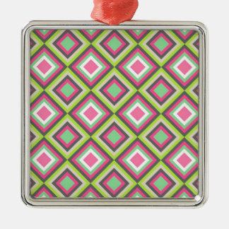 アステカなダイヤモンドパターン メタルオーナメント