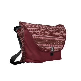 アステカなパターンカスタムのメッセンジャーバッグ メッセンジャーバッグ