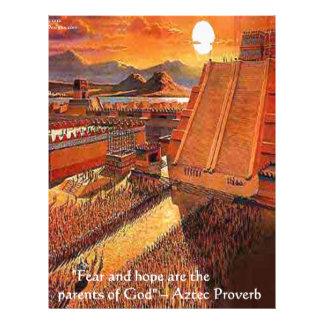 アステカな帝国及び諺のギフトティー及びカード レターヘッド