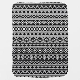 アステカな本質パターンII白黒の灰色 ベビー ブランケット