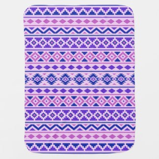 アステカな本質II横のPtnは青い紫色を飾ります ベビー ブランケット