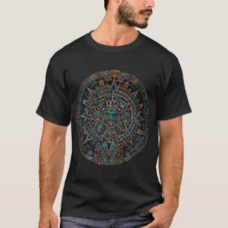 アステカな種族の人工物のカレンダーの人のTシャツ Tシャツ