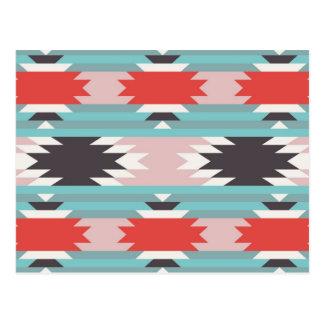 アステカな種族パターンネイティブアメリカンのプリント ポストカード