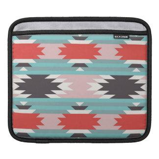 アステカな種族パターンネイティブアメリカンのプリント iPad 用スリーブ