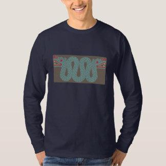 アステカな蛇の人の長袖のワイシャツ Tシャツ