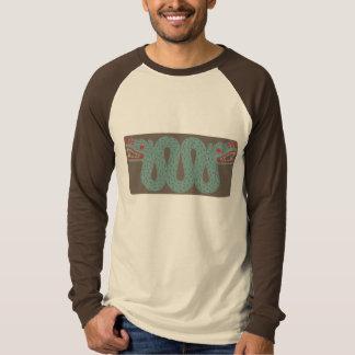 アステカな蛇の人の長袖のRaglanのワイシャツ Tシャツ