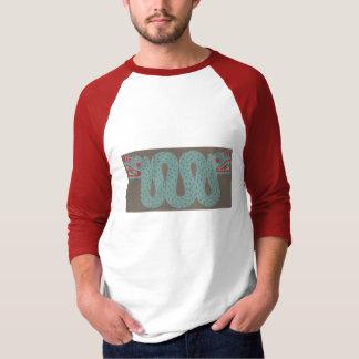 """アステカな蛇の人の3/4"""" Raglanのワイシャツ Tシャツ"""