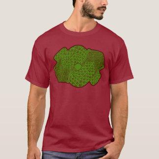 アステカな蛇の神のデザインのTシャツ Tシャツ