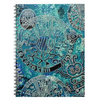 アステカな青の写真のノート(80ページB&W) ノートブック