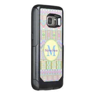 アステカなBohoのパステルのモノグラムgalaxyS7のガーリーな上品 オッターボックスSamsung Galaxy S7ケース