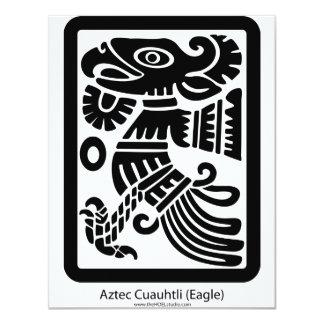 アステカなCuauhtli -ワシの(黒い)招待状 カード