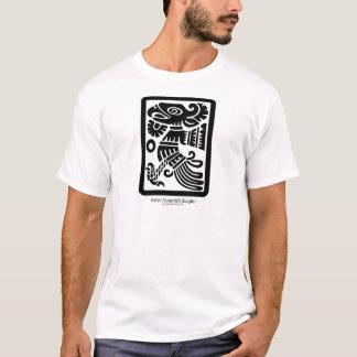 アステカなCuauhtli -ワシの(黒い)服装 Tシャツ