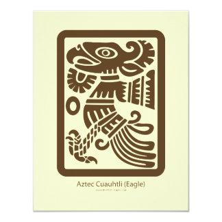 アステカなCuauhtli -ワシ(ブラウン)の招待状 カード