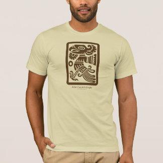 アステカなCuauhtli -ワシ(ブラウン)の服装 Tシャツ