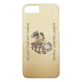 アステカなHuitzilopochtiの民芸のモチーフ iPhone 8/7ケース