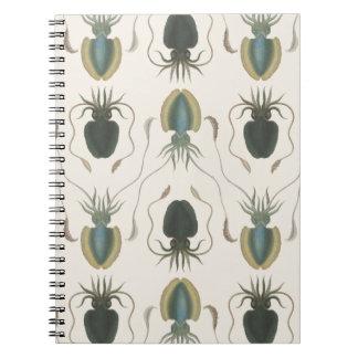 アストロラーベの軟体動物(緑) ノートブック