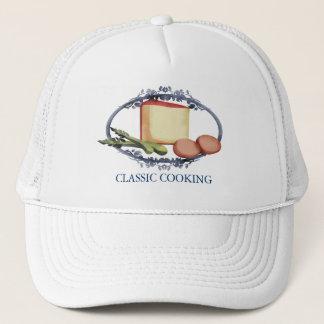 アスパラガスはチーズ料理の台所服装に、…卵を投げつけます キャップ