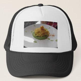アスパラガスソースのbottargaのスパゲッティ キャップ