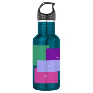アスペクトレシオ色のブロック ウォーターボトル
