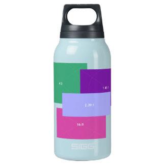 アスペクトレシオ色のブロック 断熱ウォーターボトル