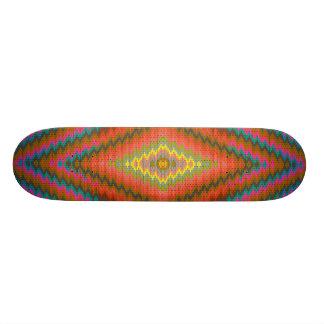 アズテック人のクールな幾何学的設計 カスタムスケートボード
