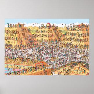 アズテック人のWaldo  の最後の日があるところ ポスター