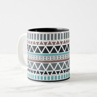 アズテック人刺激を受けたなパターンマグ ツートーンマグカップ