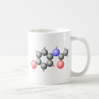 アセトアミノフェンの分子 コーヒーマグカップ