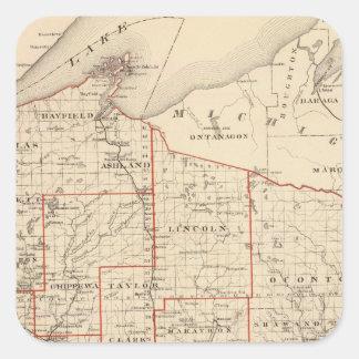 アセンブリ地区を示すウィスコンシンの地図 スクエアシール