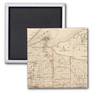 アセンブリ地区を示すウィスコンシンの地図 マグネット