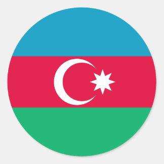 アゼルバイジャンのステッカーの旗 ラウンドシール
